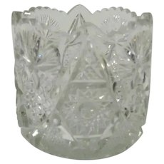 Vintage Clear Cut Glass Spooner with Various Patterns
