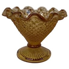 Westmoreland English Hobnail Footed Amber Compote
