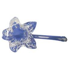 Vintage Clear Crystal Flower Vase Shaped Like A Flower