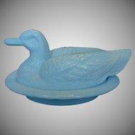 Vintage Westmoreland Soft Blue Duck On Nest ~ REDUCED ~ 1/2 OFF!
