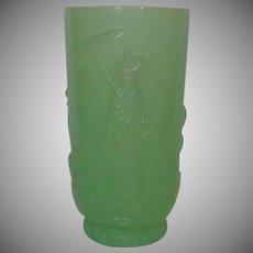 Oriental Fenton Mandarin Vase in Jade