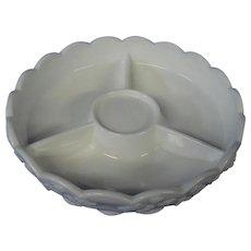 Westmoreland Milk Glass Three Part Relish Dish