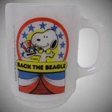 Snoopy Back the Beagle Coffee Mug ~ Snoopy Collectible ~ Charles Schultz