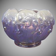 Fenton Opalescent Rose Bowl in Lily of the Valley Pattern