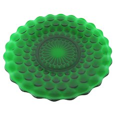 Anchor Hocking Emerald Green Plate in Bubble Pattern