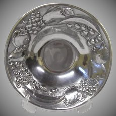 Handsome Wilton Armatale Metal Bowl with Fruit Pattern