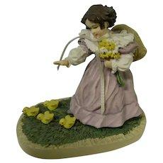 Sweet Little Chickadees Figurine, Maud Humphrey Bogart
