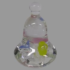 Vintage Bell Shaped Art Glass Paperweight by Joe Rice