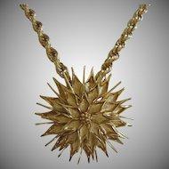 Monet Large Flower Medallion Vintage Necklace ~ REDUCED ~ 1/2 OFF!!