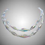 Brilliant Bicone AB Crystals Double Strand Necklace ~ REDUCED!