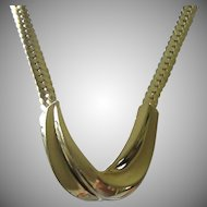 Vintage Napier Bold and Chunky Gold Tone Necklace