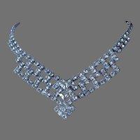 Final Markdown - Sparkling Clear Rhinestone Necklace, Bridal Jewelry