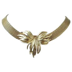 Vintage Gold Tone Mesh Necklace, Choker ~ REDUCED!