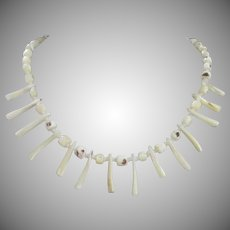 Vintage Mother of Pearl Summertime Necklace