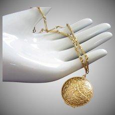 Vintage Gold Tone Locket Necklace