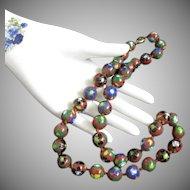 Chinese Cloisonne Enamel Bead Vintage Necklace
