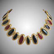 Anne Klein Richly Enameled Gold Tone Necklace ~ 1/2 OFF!