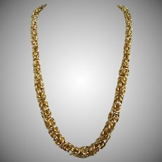 Heavy and Chunky Gold Tone Chain Necklace