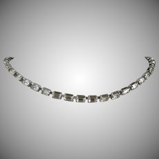 Clear Rhinestone Baguettes Choker Necklace
