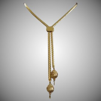 Monet Gold Tone Bolero Necklace