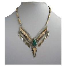 Tribal or Ethnic Look Semi Precious Stone Vintage Necklace