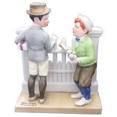 Final Markdown - Norman Rockwell Porcelain Figurine, 1980, Rivals
