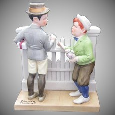 Norman Rockwell Porcelain Figurine, 1980, Rivals