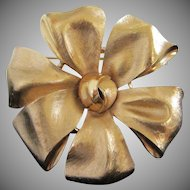Vintage Trifari Gold Tone Bow Pin Brooch