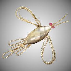 Corocraft Gold Tone Wire Bug Insect Pin Brooch