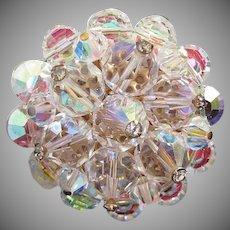 Flashy AB Crystals Cluster Pin Brooch