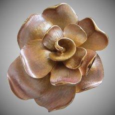 Vintage Kramer Lilac Enamel over Gold Tone Flower Pin Brooch ~ REDUCED!