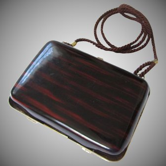 Vintage Lucite Tortoise Shell Purse by Walborg, Made in Italy