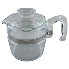 Vintage Pyrex Clear Glass 4 Cup Teapot or Coffee Pot