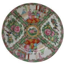 19th Century Beautiful Chinese Rose Medallion Plate