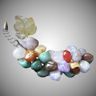 Vintage Semi Precious Stones Cluster of Grapes ~ REDUCED!