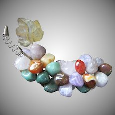 Vintage Semi Precious Stones Cluster of Grapes ~ REDUCED!