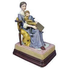 Vintage Museum Collections Music Box, Mother Reading to Son