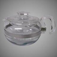Vintage Pyrex Clear Glass 6 Cup Teapot, Corningware