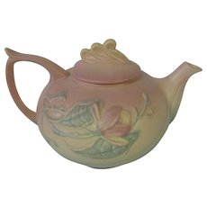 Beautiful Hull Magnolia Matte Pink Teapot, 1940's