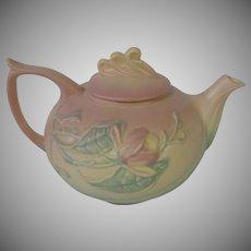 Beautiful Hull Magnolia Matte Pink Teapot, 1940's