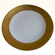 J & S.,Bavaria Large Round Gold Encrusted Serving Plate 1898 - 1923