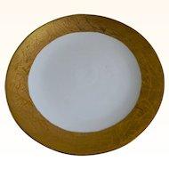 J & S.,Bavaria Large Round Gold Encrusted Serving Plate 1898 - 1923