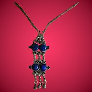 Unique Lapis Necklace, Early 1900's