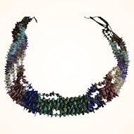 Vintage Gem Stone Five Stranded Necklace
