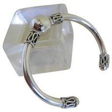 Sterling Silver Cuff Bracelet, Mexico