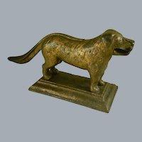 Heavy Cast Iron Dog Nut Cracker. Early 1900's