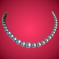 Silver Colored Metal Beaded Necklace