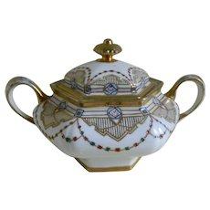 Royal Crockery, Fine China, Nippon Hand Painted Biscuit Jar, 1911 - 1921