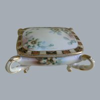 Antique Morimura, Nippon Hand Painted China Box