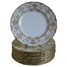 Royal Doulton, England Gold Encrusted, Set of 10 Plates